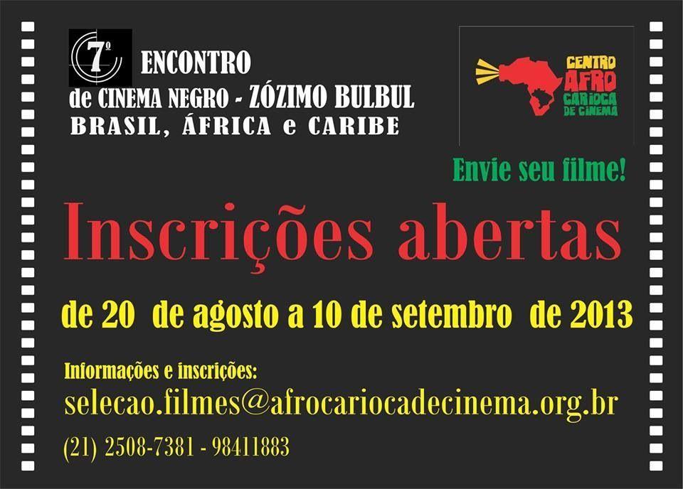 Inscrições abertas: 7º Encontro de Cinema Negro
